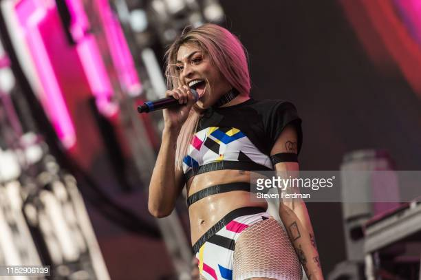 Pabllo Vittar performs during WorldPride NYC 2019 on Pride Island on June 29 2019 in New York City