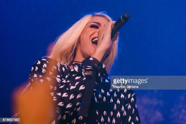 Pabllo Vittar performs live on stage at Brooks Bar on November 24 2017 in Sao Paulo Brazil
