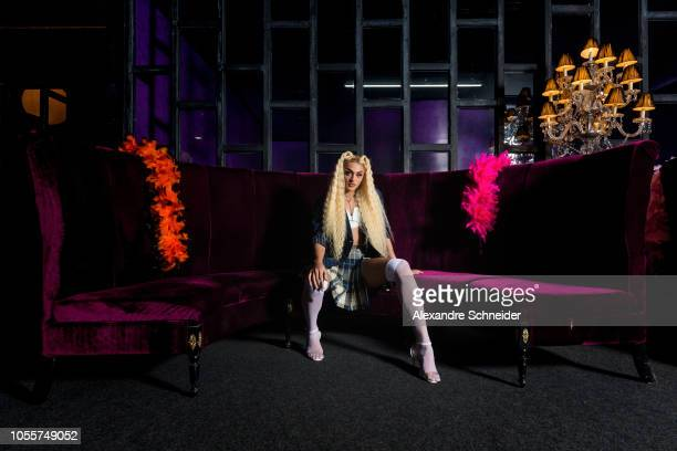 Pabllo Vittar poses during the Netflix Super Drags Sao Paulo Premiere on October 30 2018 in Sao Paulo Brazil