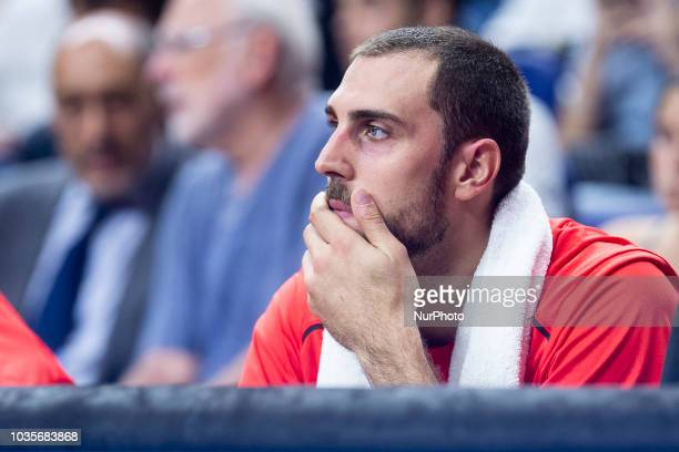 Pablo Aguilar of Spain during the FIBA Basketball World Cup Qualifier match Spain against Latvia at Wizink Center in Madrid Spain September 17 2018