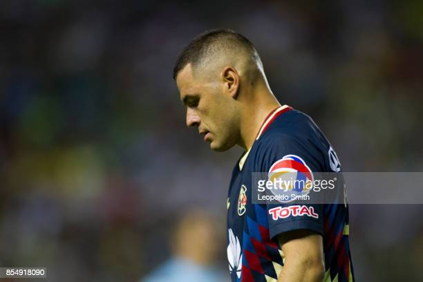 Pablo Aguirlar of America leaves the field after the 11th round match between Leon and America as part of the Torneo Apertura 2017 Liga MX at Leon...