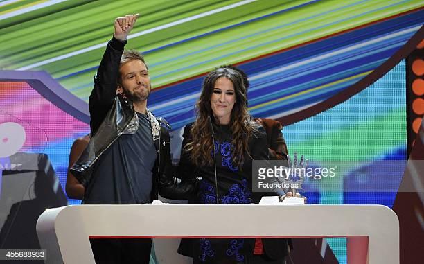Pablo Alboran and Malu attend '40 Principales Awards' 2013 Gala at the Palacio de los Deportes on December 12 2013 in Madrid Spain