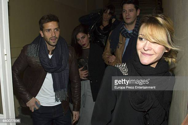 Pablo Alboran and Maria Esteve attend Celia Flores concert '20 years from Marisol to Pepa Flores' at Cervantes Theatre on December 23, 2016 in...
