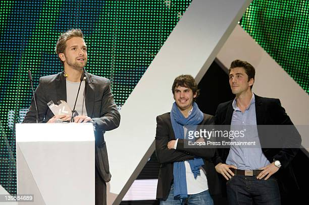 Pablo Alboran and Rubern Sanz attend the Cadena Dial awards 2011 at Adan Martinez Auditorium on February 22 2012 in Tenerife Spain