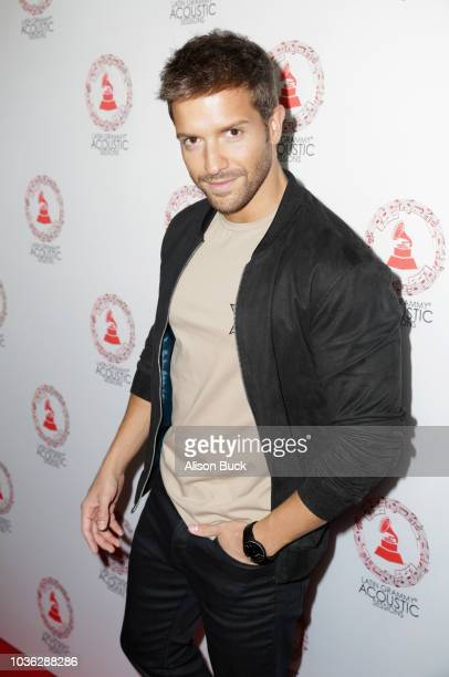 Pablo Alboran arrives at the Latin GRAMMY Acoustic Sessions Los Angeles at The GRAMMY Museum on September 19 2018 in Los Angeles California