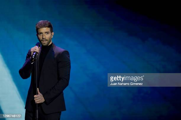 Pablo Alboran attends the gala of 'Jose Maria Forque' Awards 2021 at Ifema on January 16, 2021 in Madrid, Spain.