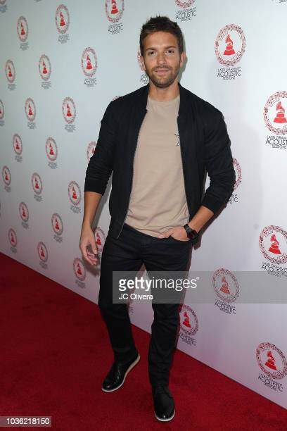 Pablo Alboran attends The Latin Recording Academy Los Angeles Acoustic Session with Beto Cuevas and Pablo Alboran at The Novo by Microsoft on...