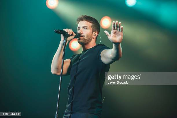 Pablo Alboran performs on stage at WiZink Center on May 22 2019 in Madrid Spain