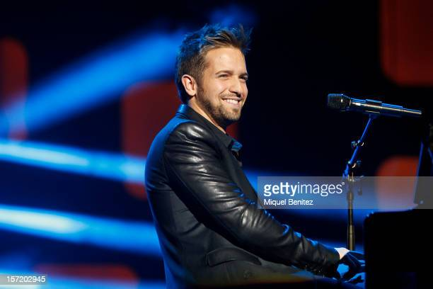 Pablo Alboran performs on stage during the 59th Ondas Awards 2012 at the Gran Teatre del Liceu on November 29 2012 in Barcelona Spain