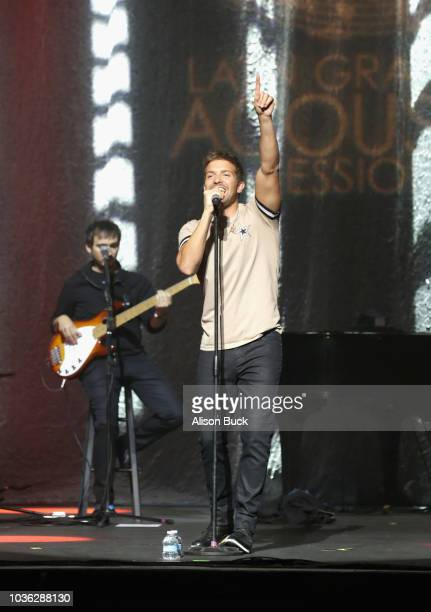 Pablo Alboran performs onstage at the Latin GRAMMY Acoustic Sessions Los Angeles at The GRAMMY Museum on September 19 2018 in Los Angeles California