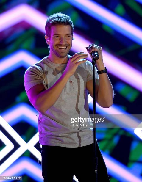 Pablo Alboran performs onstage during rehearsals for the 19th annual Latin GRAMMY Awards at MGM Grand Garden Arena on November 12 2018 in Las Vegas...