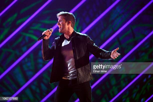 Pablo Alboran performs onstage during the 19th annual Latin GRAMMY Awards at MGM Grand Garden Arena on November 15 2018 in Las Vegas Nevada