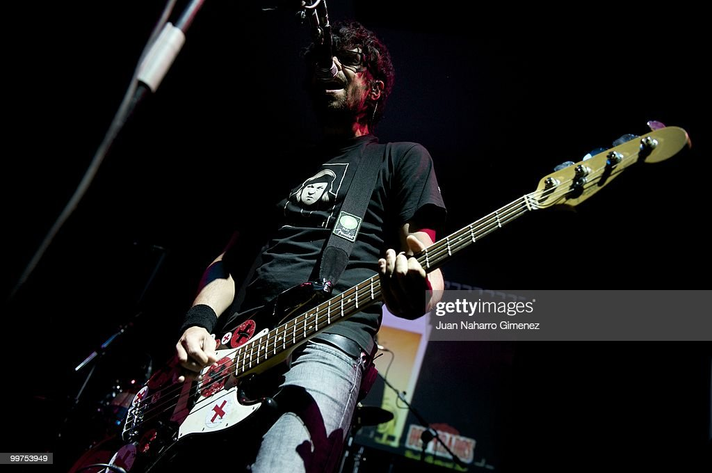 Pablo Alonso of Pignoise performs at Teatro Quinto on May 17, 2010 in Madrid, Spain.