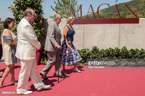 Pablo Alvarez Mezquiriz King Juan Carlos and Ariane de Rothschild attend Macan Winery inauguration on June 16 2017 in Alava Spain