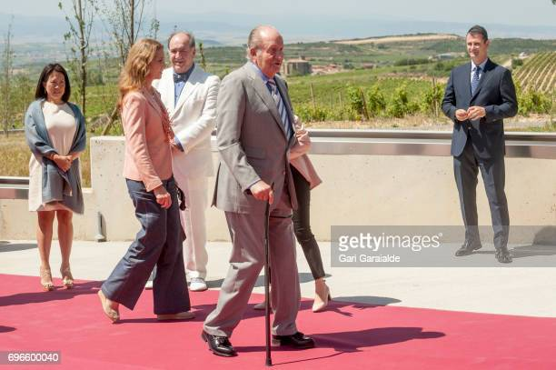 Pablo Alvarez Mezquiriz King Juan Carlos and princess Elena of Spain attend Macan Winery inauguration on June 16 2017 in Alava Spain