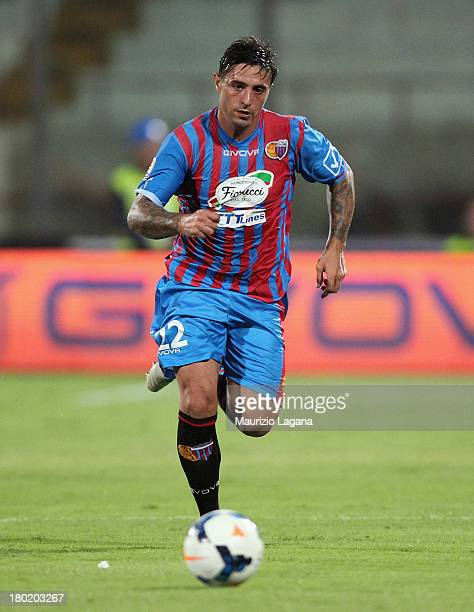 Pablo Alvarez of Catania during the Serie A match between Calcio Catania and FC Internazionale Milano at Stadio Angelo Massimino on September 1, 2013...