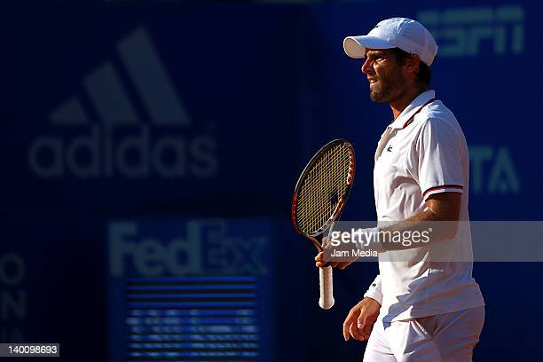Pablo Andujar of Spain during day one of the 2012 Acapulco Tennis Open at Princess Hotel on February 27 2012 in Acapulco Mexico