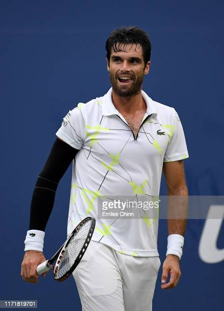 Pablo Andujar of Spain reacts during his Men's Singles fourth round match against Gael Monfils of France on day eight of the 2019 US Open at the USTA...