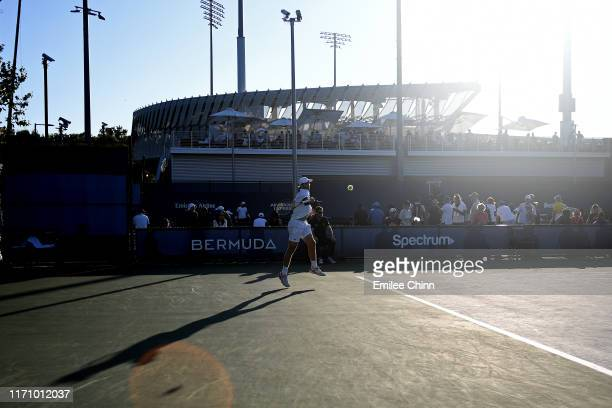 Pablo Andujar of Spain serves the ball during his Men's Singles second round match against Lorenzo Sonego of Italy on day four of the 2019 US Open at...