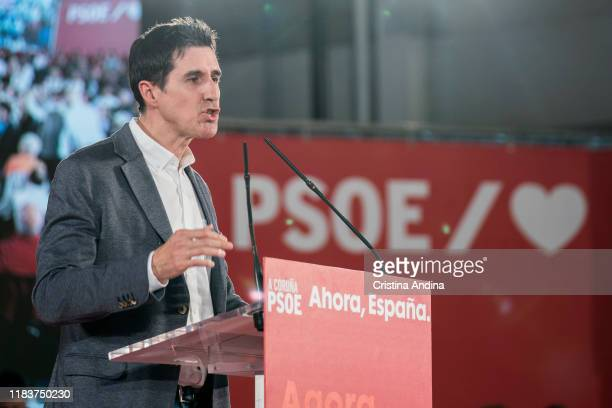 Pablo Arangüena Deputy Secretary General of the PSOE in Galicia attends a Spanish Socialist Workers' Party meeting on October 27 2019 in A Coruna...