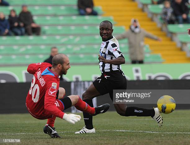 Pablo Armero of Udinese scores the opening goal during the Serie A match between Udinese Calcio and Catania Calcio at Stadio Friuli on January 22,...