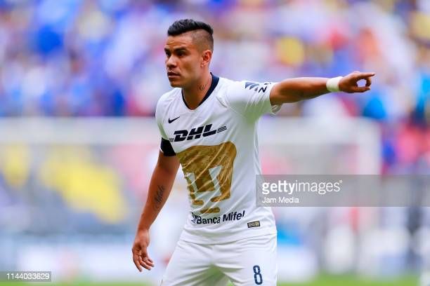 Pablo Barrera of Pumas reacts during the 15th round match between Cruz Azul and Pumas UNAM as part of the Torneo Clausura 2019 Liga MX at Azteca...
