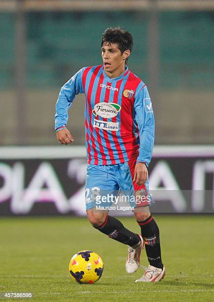 Pablo Barrientos of Catania during the Serie A match between Calcio Catania and Hellas Verona at Stadio Angelo Massimino on December 14 2013 in...