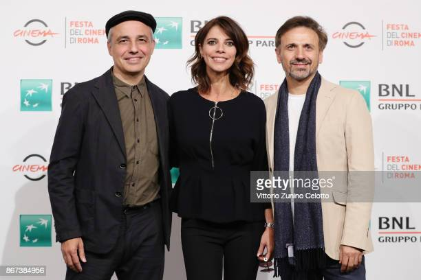 Pablo Berger Maribel Verdu and Jose Mota attend 'Abracadabra' photocall during the 12th Rome Film Fest at Auditorium Parco Della Musica on October 28...