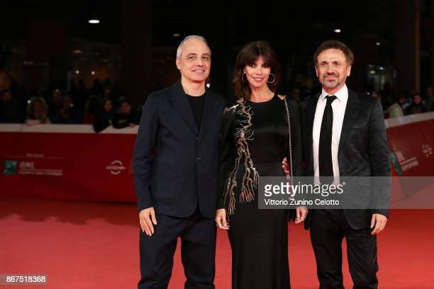 Pablo Berger Maribel Verdu and Jose Mota walk a red carpet for 'Abracadabra' during the 12th Rome Film Fest at Auditorium Parco Della Musica on...