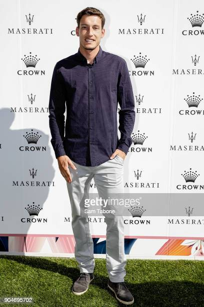 Pablo Busta arrives ahead of the 2018 Crown IMG Tennis Player at Crown Palladium on January 14 2018 in Melbourne Australia