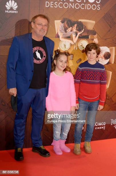 Pablo Carbonell and her daugher Mafalda Carbonell attend the 'Perfectos desconocidos' premiere at Capitol cinema on November 28 2017 in Madrid Spain