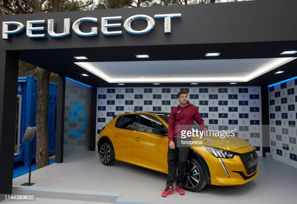 Pablo Carreno Busta of Spain attends PEUGEOT sponsor during the Barcelona Open Banc Sabadell 2019 at Real Club de Tennis de Barcelona on April 22...