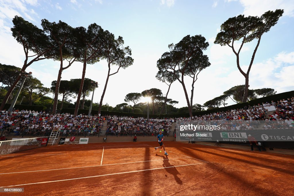 Pablo Carreno-Busta of Spain during his second round match against Roberto Bautista Agut of Spain on Day Four of The Internazionali BNL d'Italia 2017 at the Foro Italico on May 17, 2017 in Rome, Italy.