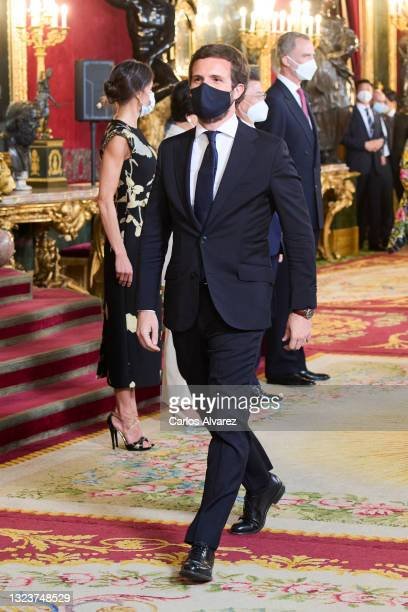 Pablo Casado attends a State Dinner honouring Korean President at the Royal Palace on June 15, 2021 in Madrid, Spain.