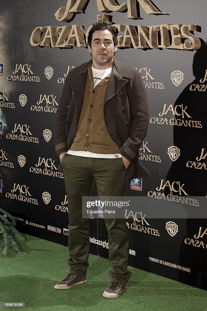 Pablo Chiapella attends 'Jack el Caza Gigantes' premiere photocall at Kinepolis cinema on March 13, 2013 in Madrid, Spain.