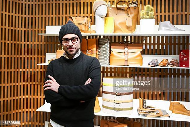 Pablo Coppola attends Bally presentation during the Milan Menswear Fashion Week/Fall Winter 2015/2016 on January 18 2015 in Milan Italy