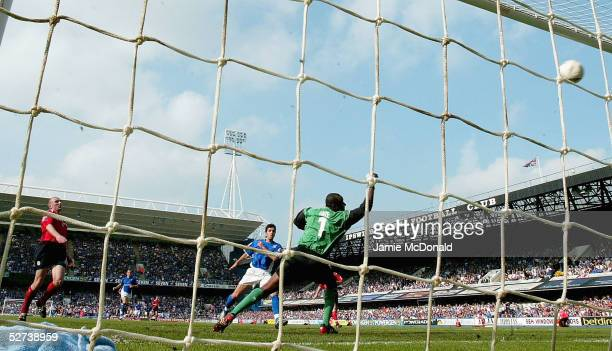 Pablo Counago scores a goal for Ipswich during the Coca Cola Championship match between Ipswich Town and Crewe Alexandra at Portman Road on April 30...