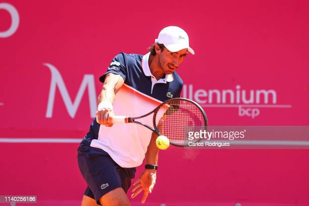 Pablo Cuevas from Uruguay in action during the match of Round 1 between Salvatore Caruso from Italy and Pablo Cuevas from Uruguay during Millennium...