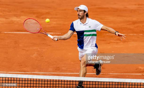 Pablo Cuevas of Uruguay in action during Round of Sixteen of the Hamburg Open 2020 at Rothenbaum on September 24, 2020 in Hamburg, Germany.