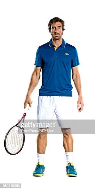 Pablo Cuevas of Uruguay poses for portraits during the Australian Open at Melbourne Park on January 14 2018 in Melbourne Australia