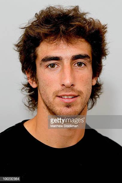 Pablo Cuevas poses for a headshot at Roland Garros on May 22 2010 in Paris France