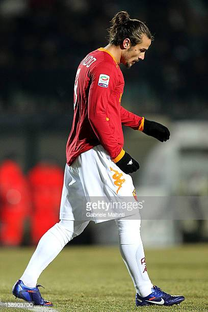 Pablo Daniel Osvaldo of AS Roma shows his dejection during the Serie A match between AC Siena and AS Roma at Artemio Franchi Mps Arena Stadium on...
