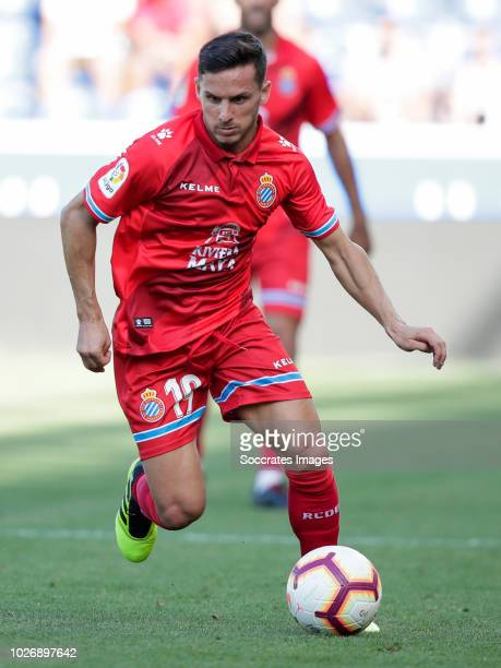 Pablo Daniel Piatti of RCD Espanyol during the La Liga Santander match between Deportivo Alaves v Espanyol at the Estadio de Mendizorroza on...