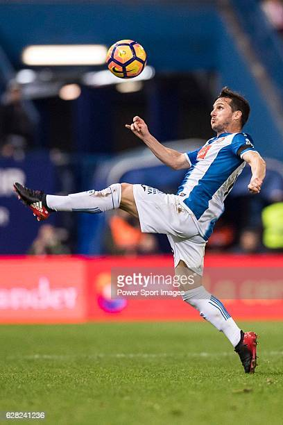 Pablo Daniel Piatti of RCD Espanyol in action during the La Liga match between Atletico de Madrid and RCD Espanyol at the Vicente Calderon Stadium on...