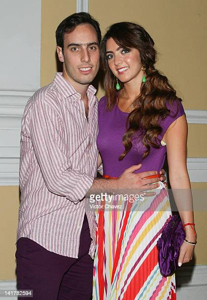 Pablo de Haro and Lissette García Trepaud attend the Yucatan Moda Nextel 2012 cocktail and dinner at Teatro Jose Peon Contreras on March 17, 2012 in...