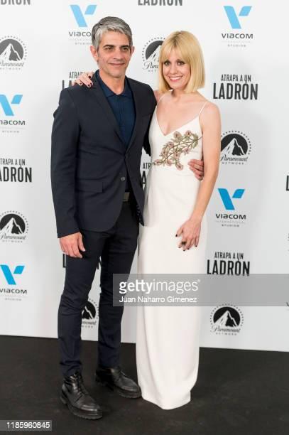 Pablo Echarri and Alexandra Jimenez attend 'Atrapa A Un Ladron' premiere at Callao Cinema on November 06 2019 in Madrid Spain