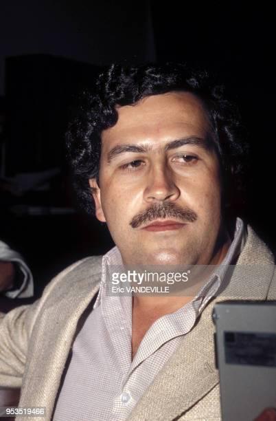 Pablo Escobar le chef du cartel de Medellin et numéro un mondial du trafic de cocaine en 1988 à Medellin Colombie