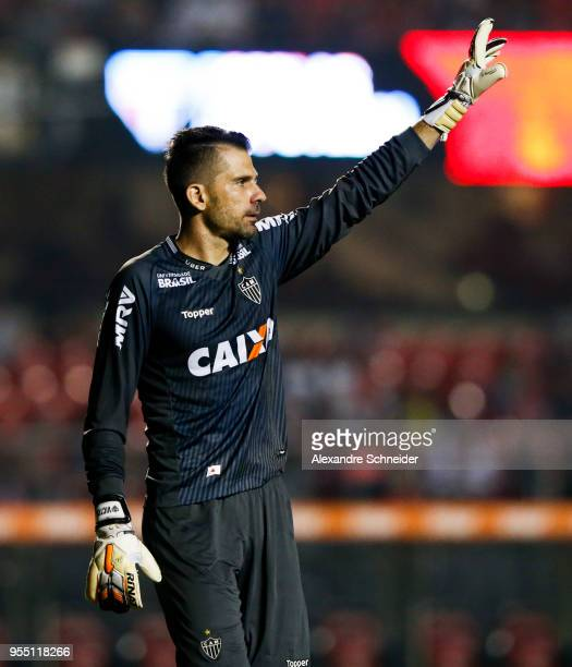 Pablo Escobar of Sao Paulo and China of Atletico MG in action during the match between Sao Paulo and Atletico MG for the Brasileirao Series A 2018 at...