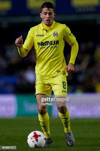 Pablo Formals of Villarreal CF with the ball during the Copa del Rey Round of 16 second leg game between Villarreal CF and CD Leganes on January 10...