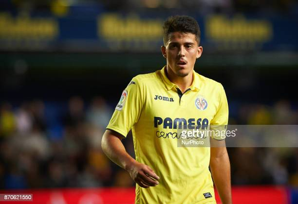 Pablo Fornals of Villarreal CF looks on during the La Liga match between Villarreal CF and Malaga CF at Estadio de la Ceramica on november 5 2017 in...